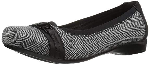 Giày búp bê Da Thời Trang dành cho Nữ , Thương Hiệu : Clarks - Kiểu mẫu: Kinzie Light .