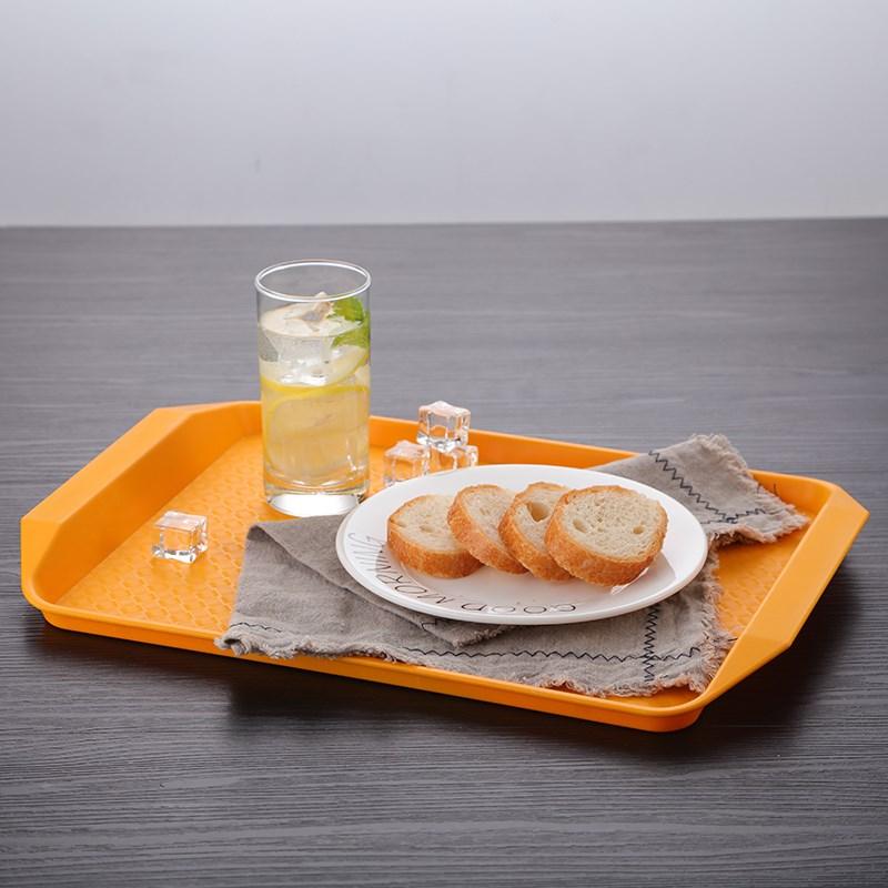Mâm nhựa / Pallet nhựa Đồ ăn nhanh khay đĩa nhựa dày của hình chữ nhật khay đĩa thức ăn nhanh KFC kh