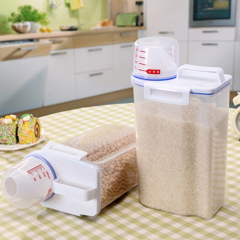 Niêm phong thùng nhựa trong suốt. Hoa màu thực phẩm ngũ cốc đậu lấy hoa màu trong bếp hộp lưu trữ vậ