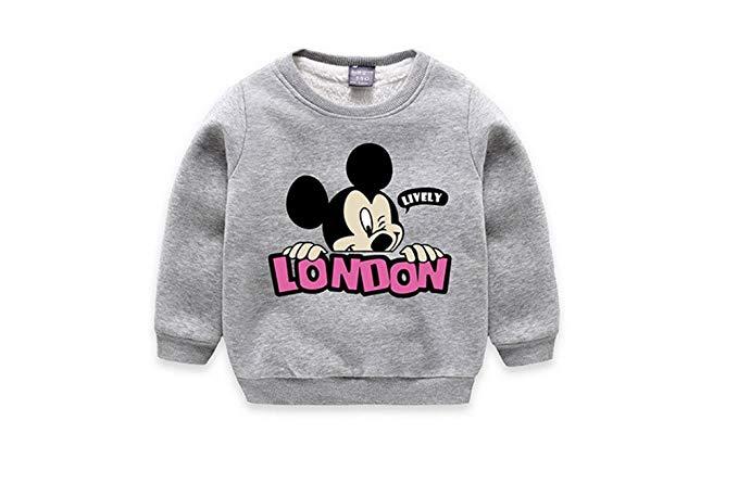 Trẻ em mặc mùa đông thời trang phim hoạt hình cộng với nhung trẻ em ấm áp cao cổ áo len (JR1132)