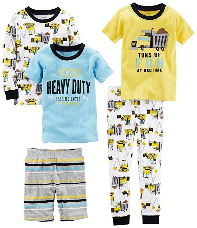 Bé trai của cậu bé 5 mảnh bông đồ ngủ snug-fit