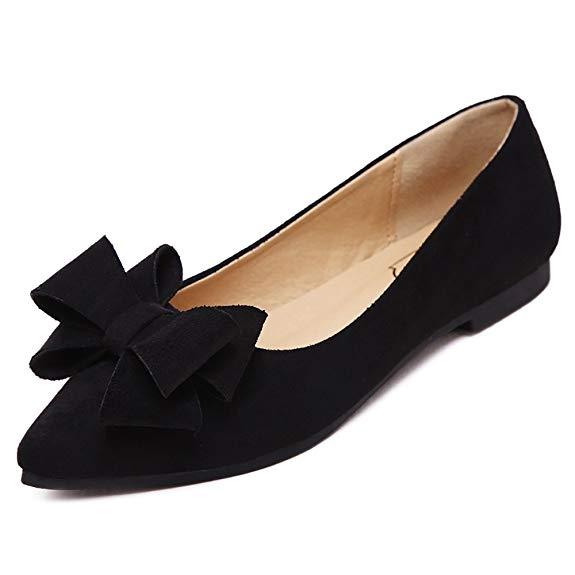 Giày búp bê Da Thời Trang dành cho Nữ , Thương Hiệu : Meeshine  .