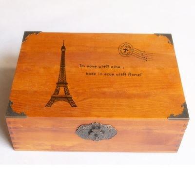Hộp gỗ Cổ điển hình chữ nhật lớn trung bình nhỏ đưa khóa ngăn chứa gỗ hộp hộp gỗ nhỏ lấy hộp gỗ thật
