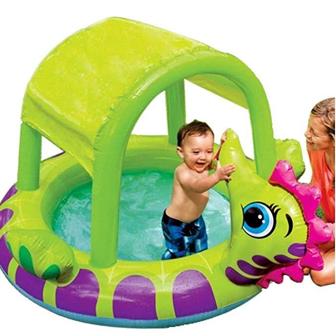 INTEX bể bơi trẻ sơ sinh USA 57110 bể bơi bơm hơi tròn hồ bơi che nắng cho bé tắm cát bể bơi đại dươ