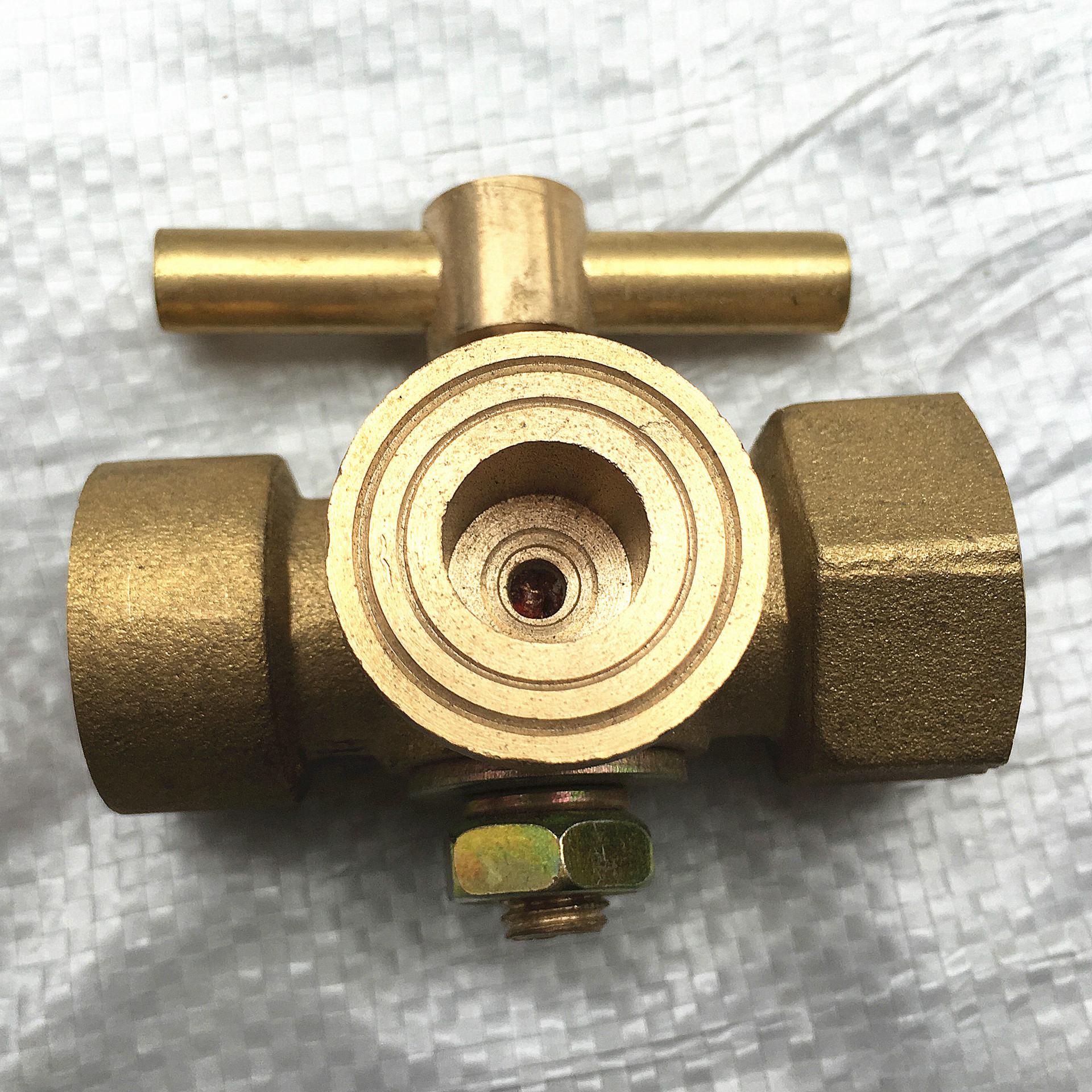 LAIWANTE Van Đồng hồ đo áp suất đồng thau van ba chiều Đồng hồ đo ren bên trong Van ba chiều Van đồn