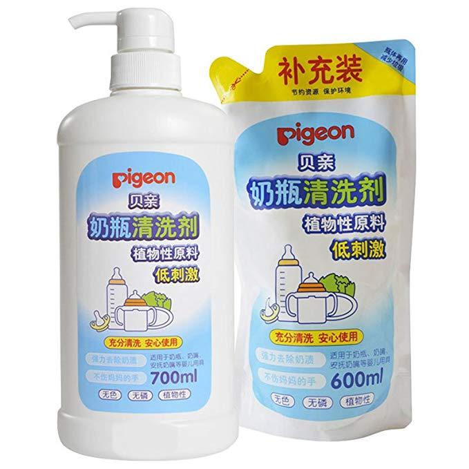 PIGEON Thị trường đồ dùng mẹ và bé Pigeon Chai Cleaner Gói khuyến mại 1300ml MA27 + MA28