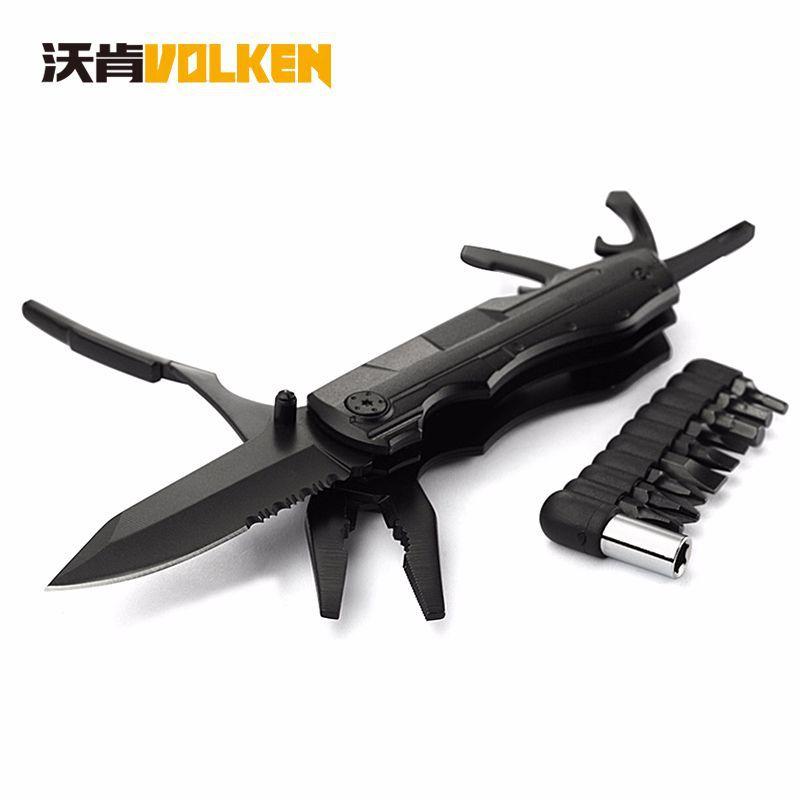 VOLKEN Bộ kềm dao đa năng Giá đỡ đa năng bán chạy xuyên biên giới Công cụ kết hợp EDC kìm dao ngoài