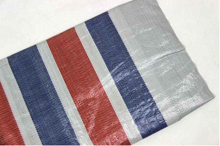 Bạt nhựa Dải màu vải mới bằng vải bạt nhựa polyetylen ba màu thông thường