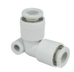 Linh kiện khí nén loại trắng có đường kính bằng nhau khuỷu tay nối nhanh 4 6 8 10 12 16
