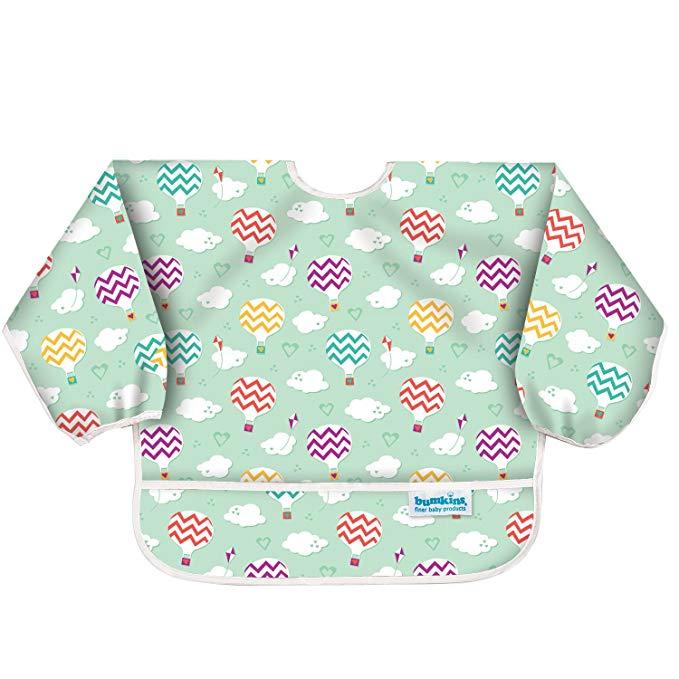 Bumkins Áo khoác Yếm tay áo có dây đai của Banjins [Nhật Bản chính hãng] Máy yếm mềm và nhẹ có thể g