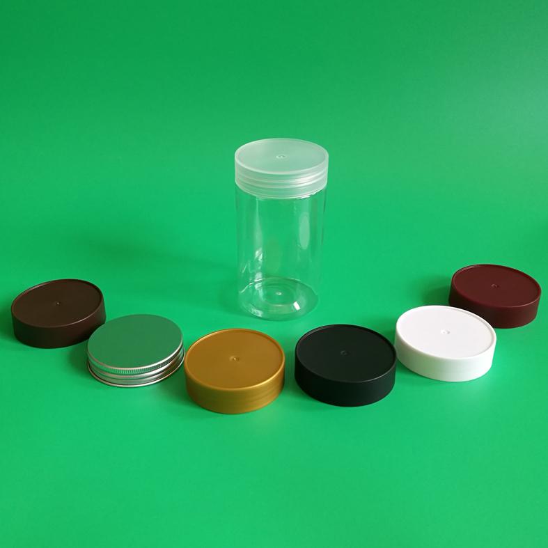 Chai nhựa WJ65-4H lon chai nhựa trong suốt L6512-37 đóng gói thực phẩm hoa quả khô 350ml dược liệu c