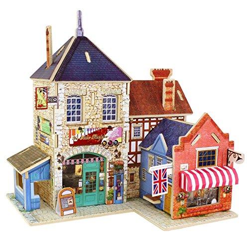 Robotime 3D ghép hình ba chiều bằng gỗ ghép hình đồ chơi giáo dục trẻ em sáng tạo thế giới bằng gỗ t