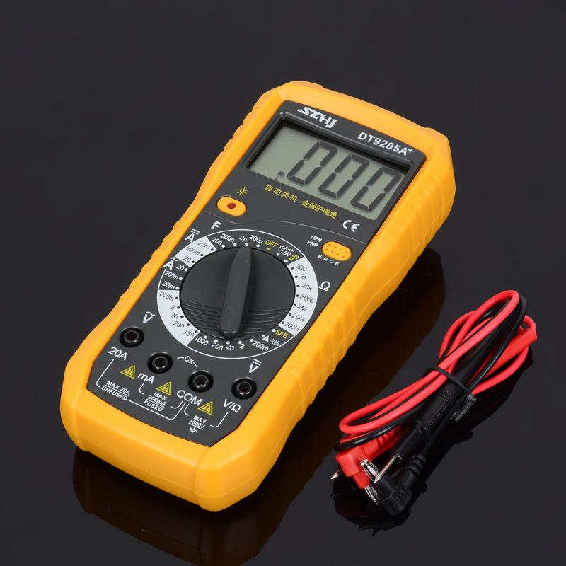 Hengjiang Đồng hồ đo điện thiết bị cầm tay kỹ thuật số hiện tại và điện áp DT9205A + vôn kế vạn năng
