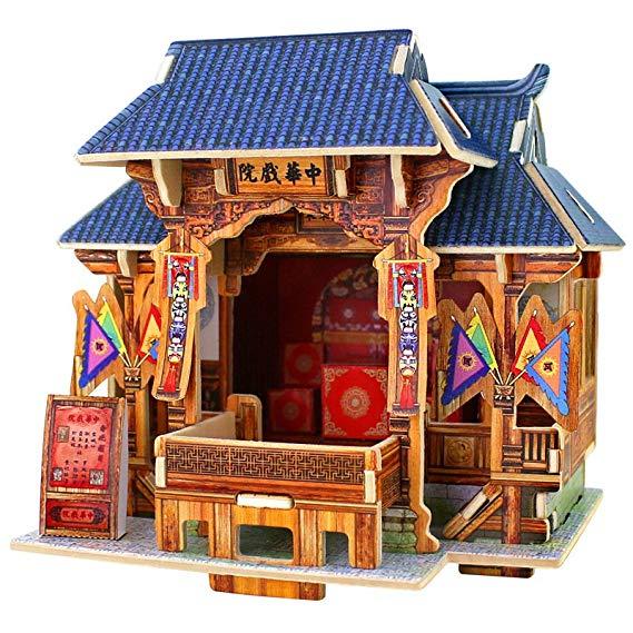 Robotime 3D ghép hình ba chiều bằng gỗ ghép hình đồ chơi giáo dục trẻ em sáng tạo thế giới phong các