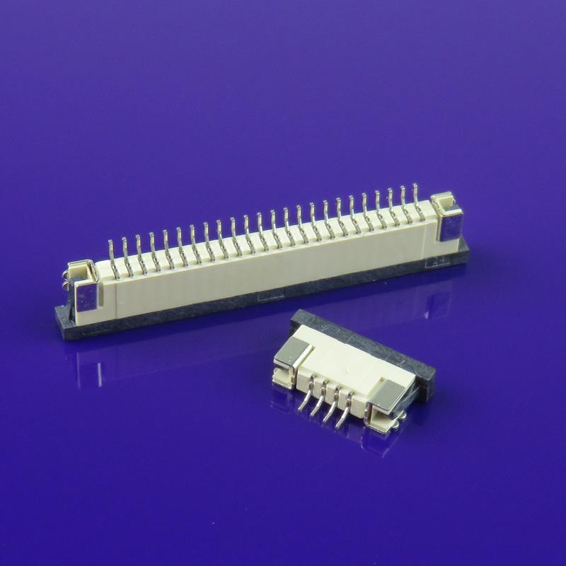 DK Giắc nối Đầu nối FPC 2P-32P sân 1.0mm miếng vá ngang H2.5mm xuống ngăn kéo loại FFC
