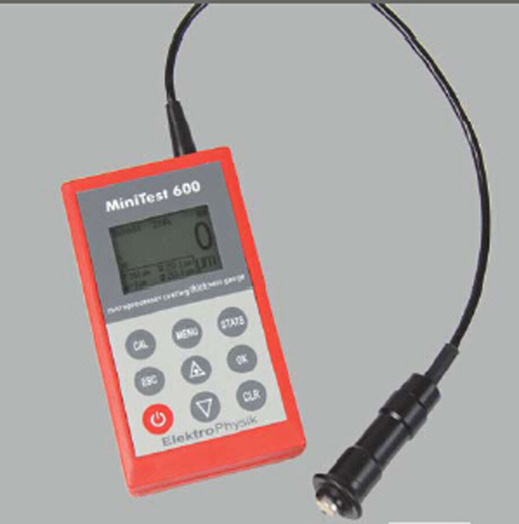 EPK Mạ màu ông ty EPK Đức MINITEST 600 F máy đo độ dày lớp phủ điện tử Junda một đại lý