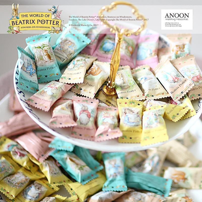Potter sữa đường series kết hôn cô bé kẹo mừng sinh nhật dự tiệc kẹo hộp kẹo mừng hơn phải thỏ.