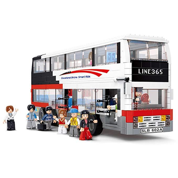 Mô hình đồ chơi xe buýt 2 tầng Line 365 Happy Little Luban