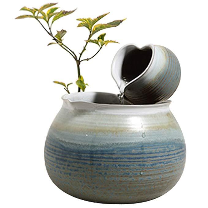 CHAZHIMI Đồ trang trí bằng gốm sứ Trà Zhimi Heart In gốm Trang trí nước Trang trí nhà Fountain Fount