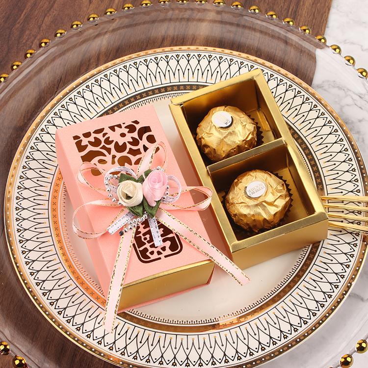 Lễ hội quảng cáo sản phẩm bánh kẹo cưới chứa 2 hạt châu Âu trong suốt sáng tạo hộp thành 100 box