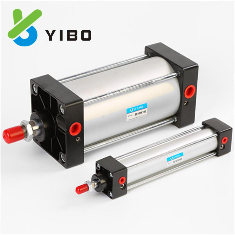 YIBO Ống xilanh Yade hành khách xi lanh tiêu chuẩn SC125 với xi lanh điều chỉnh từ tính khí nén phụ