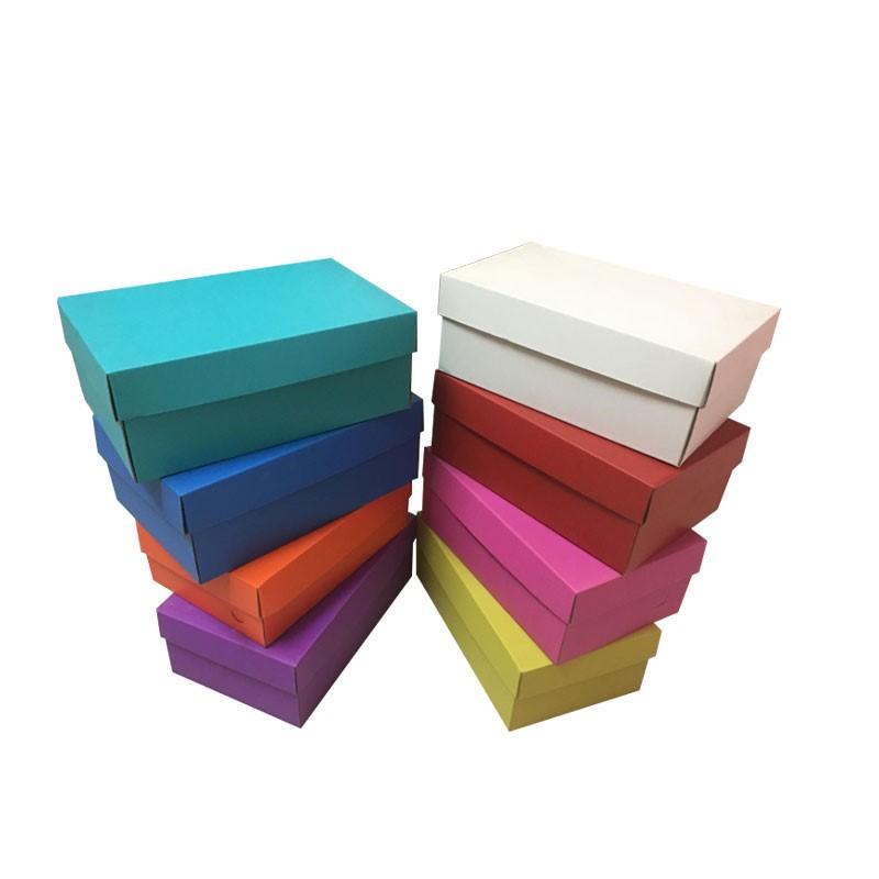 hộp giấy âm dương Bán buôn và nắp hộp giày màu sóng hộp giày nam nữ trong hộp cao cấp giá hàng logo