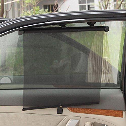 FrontTech Màng che nắng Rèm cửa sổ có thể thu vào FrontTech, kính chắn gió xe hơi cao cấp 2 mảnh chắ