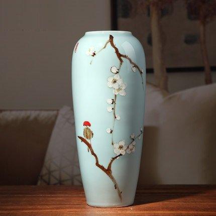 Doruik Đồ trang trí bằng gốm sứ Jingdezhen sáng tạo hiện đại mới Trung Quốc gốm sứ cắm hoa cổ khô ho