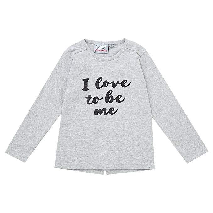 MOOMIN Mummin Trẻ Em Nhập Khẩu của Mặc Cô Gái Dài Tay Áo T-Shirt Trẻ Em Cotton T-Shirt Bông Áo Len V