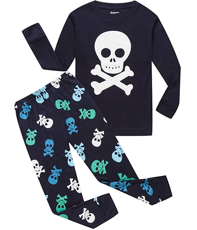 Dolphin & Fish Boy Giáng Sinh Đồ Ngủ Cậu Bé Lớn PJS Cotton Pyjama Quần Áo Trẻ Em