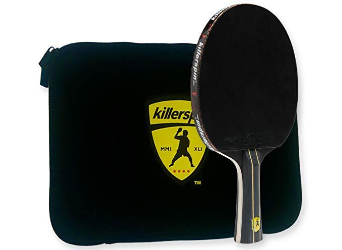 Killerspin Đồ dùng dã ngoại Kết hợp vợt Killerspin Jet Black Ping Pong - Thanh vợt giữa bàn 5 thanh