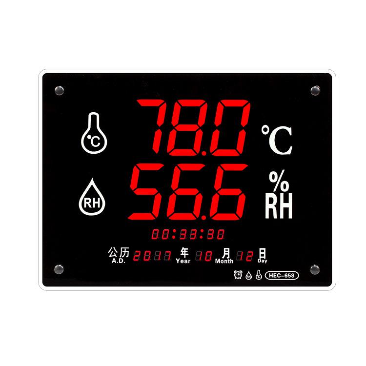ZHENGZHUN Đồng hồ đo nhiệt độ , độ ẩm HEC658 đồng hồ đo nhiệt độ và độ ẩm màn hình lớn Nhiệt độ và đ