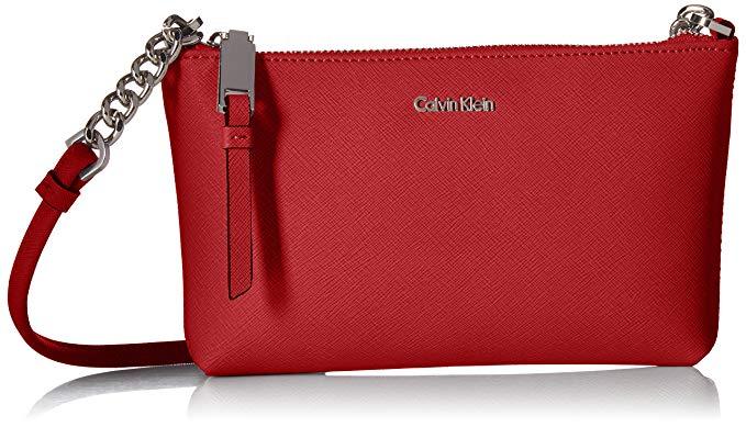 Thời Trang Túi Xách da đeo chéo dành cho Nữ , Thương hiệu : Calvin Klein .