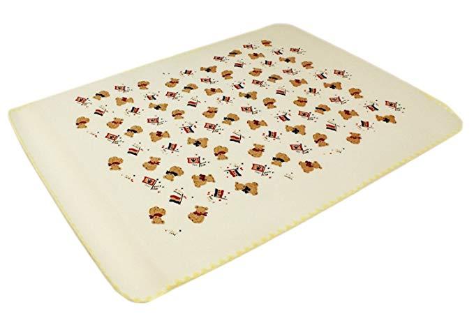 Mo-goods Tấm lót chống thấm nước trẻ em 75 x 98 cm Vàng Mo - 1450 - Y