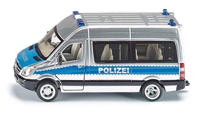 Mô hình xe cảnh sát 16 chỗ màu bạc SIKU