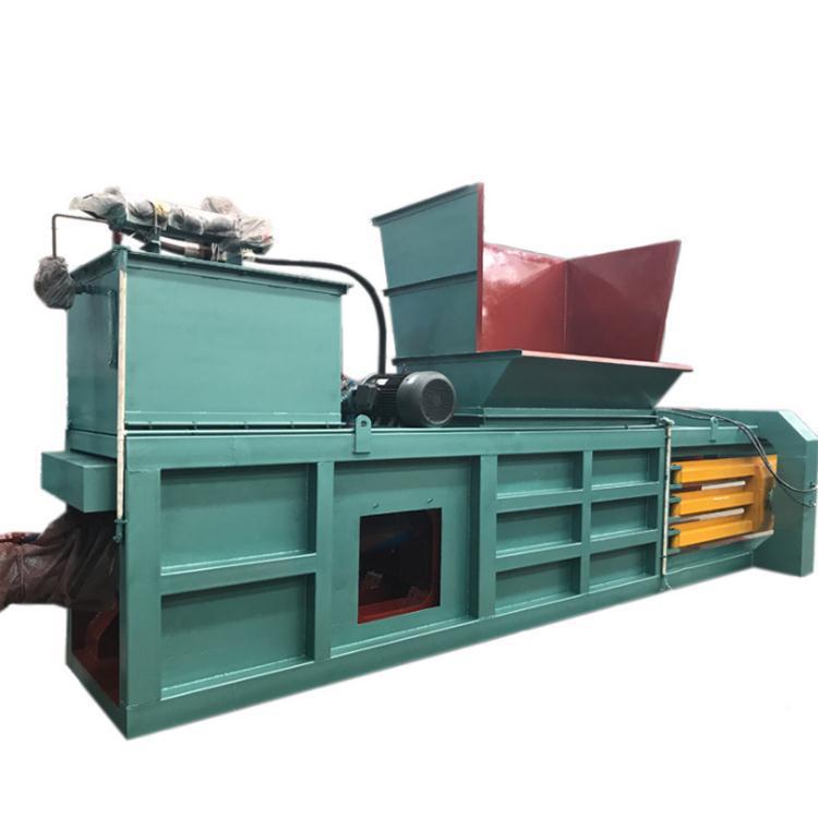WENWEI Nhựa phế liệu Nhà sản xuất tùy chỉnh thủy lực baler giấy thải ngang baler chất thải nhựa tự đ