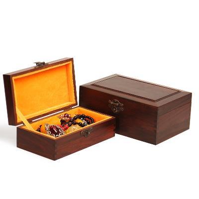 Hộp trang sức Chi nhánh Đồ chơi văn hoá gỗ óc chó đỏ, axit tay chuỗi hộp quà hộp trang sức vòng hộp