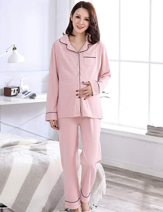 CHONA WIENER Trang phục trong tháng (sau sinh) Quần áo tháng mùa thu và mùa đông cotton cho bà bầu đ