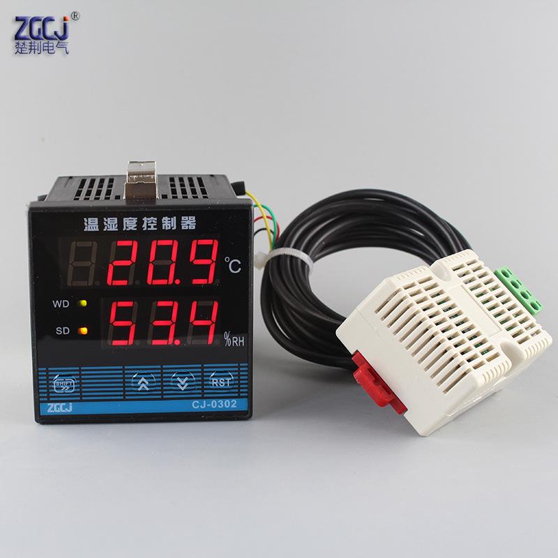 CHUJIN Đồng hồ đo nhiệt độ , độ ẩm Bộ điều khiển nhiệt độ và độ ẩm Máy đo điều chỉnh nhiệt độ và độ
