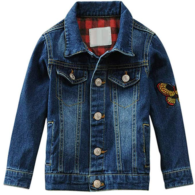 Tiến sĩ Barra mùa xuân và mùa thu mùa đông trẻ em mới của mặc chàng trai Denim Jacket thêu Trung và