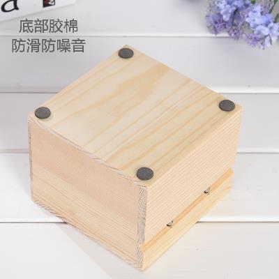 Hộp gỗ thật đấy gói an insularis nhận lấy cái hộp gỗ cây ăn quả hình vuông gập.