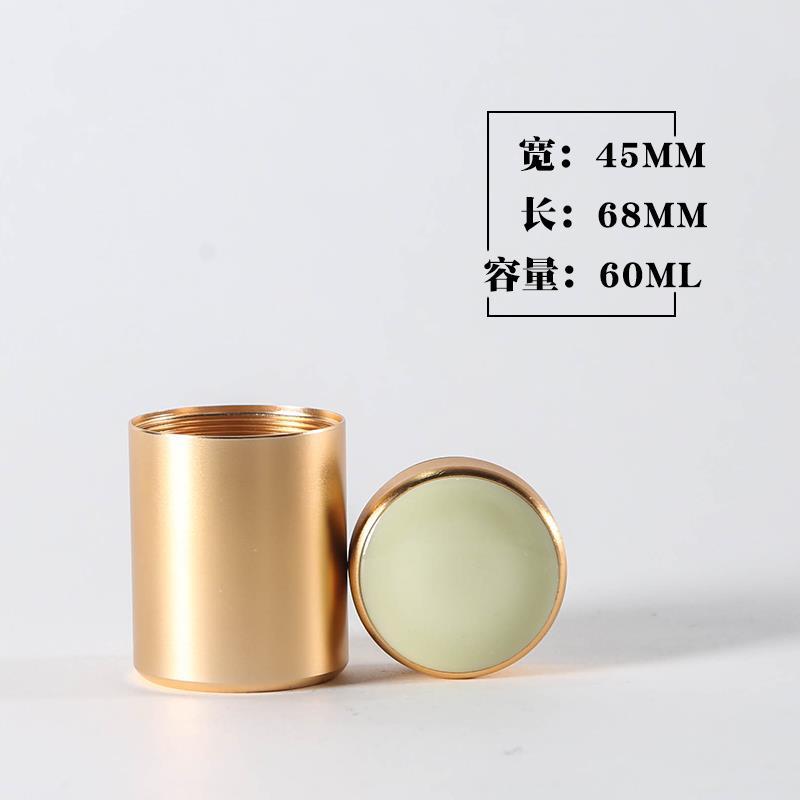 Hũ kim loại Hợp kim titan kim loại kèn lá trà bình trà nhỏ gói du lịch đóng hộp xách tay bằng thép k