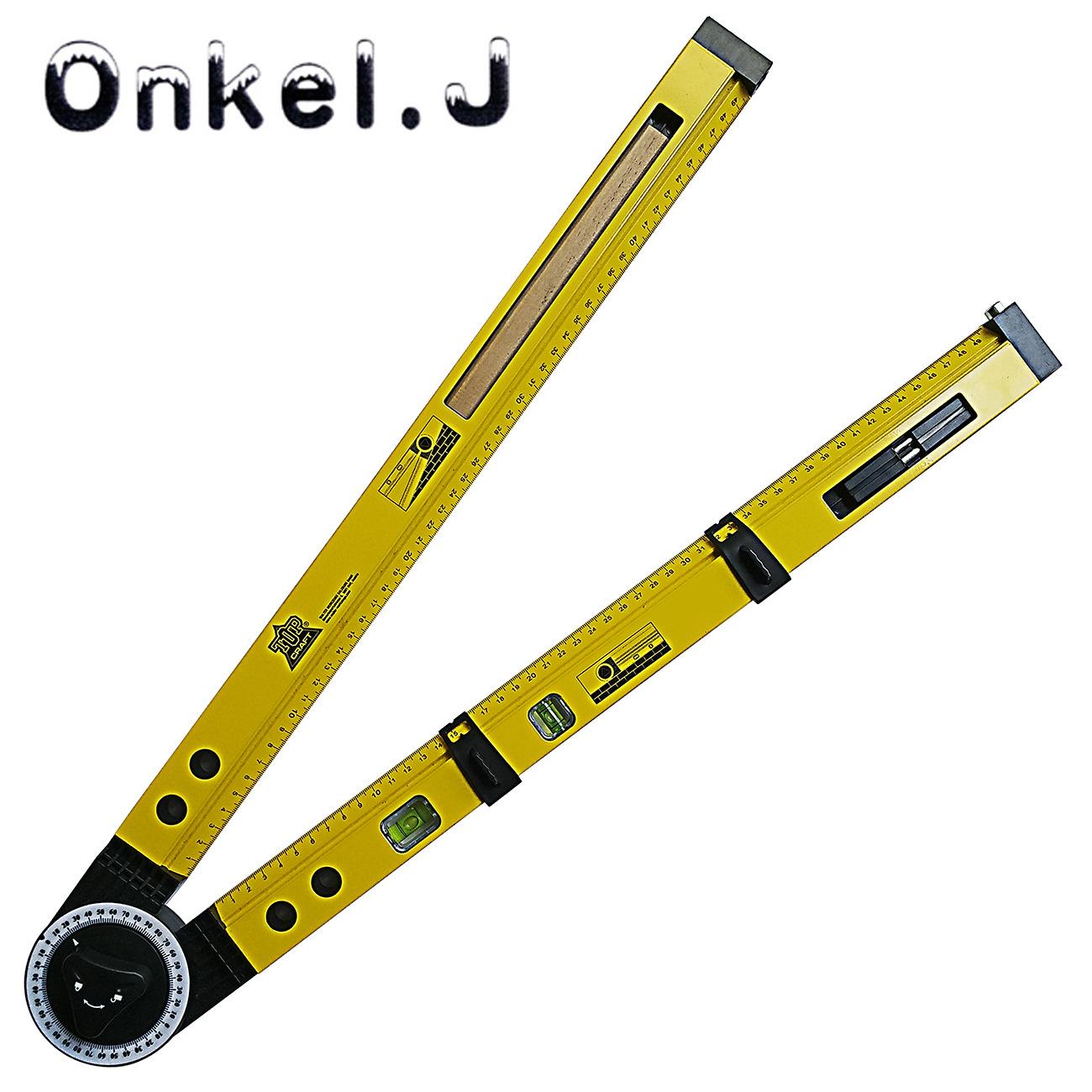 Onkel.J Dụng cụ đo lường Đa chức năng scribing đo gỗ chế biến gỗ scribe la bàn độ dốc đo dụng cụ góc