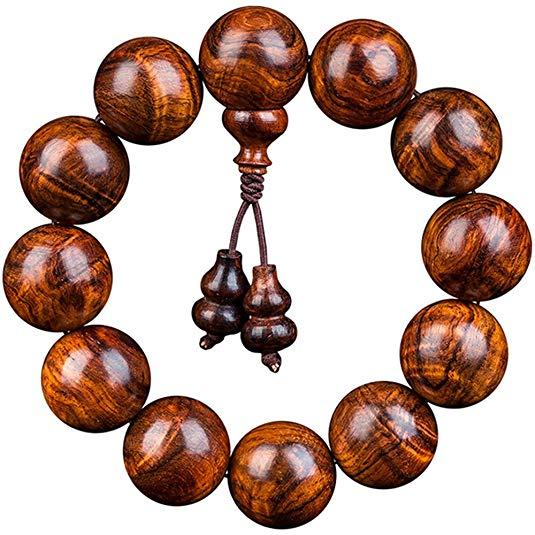 MIYOUGE Chuỗi phật Thương hiệu vòng đeo tay cao cấp Đồ trang trí bằng gỗ tự nhiên Vòng đeo tay xác t