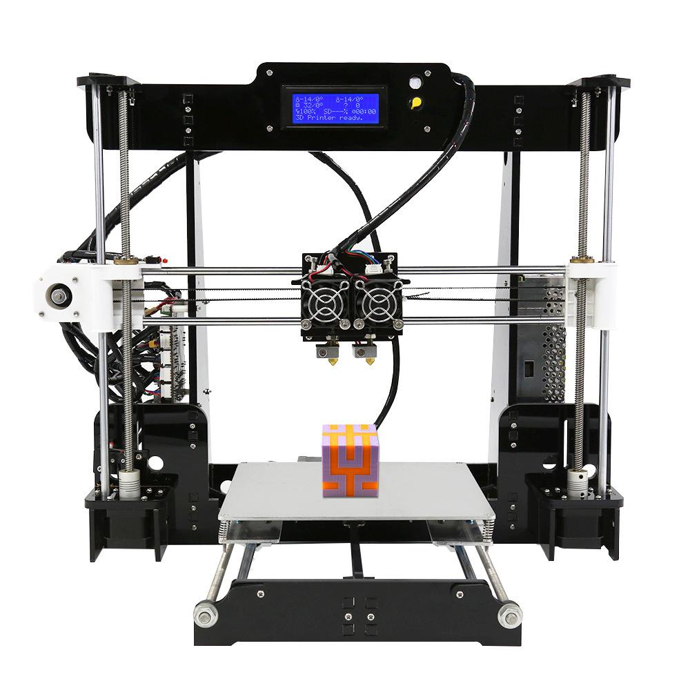 Anet Máy in 3D Nâng cấp mới A8M thông minh vòi phun kép dành cho trẻ em mô hình đồ chơi trò chơi in