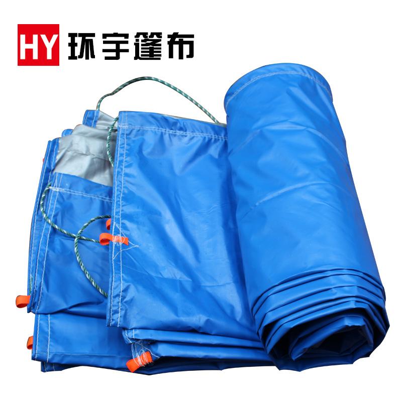 HUANYU Bạt nhựa Nhà máy trực tiếp bạt nhựa vận chuyển hàng hóa sân bãi bạt không thấm nước màu xanh