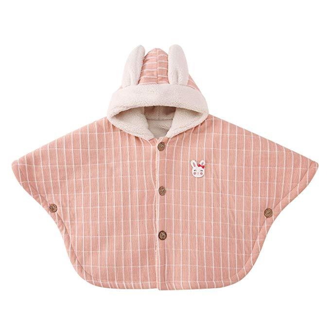 Pureborn baby girl boy trẻ đội mũ trùm đầu áo choàng trùm đầu áo khoác cổ điển sọc snowsuit mùa đông