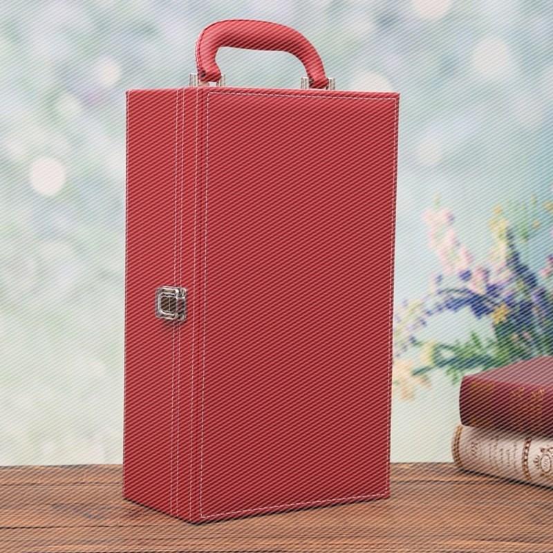 Hộp da Rượu vang vỏ hộp Ralphy gói hộp đôi nhánh chứa 2 chỉ chứa rượu vang va li vỏ hộp quà lưu niệm