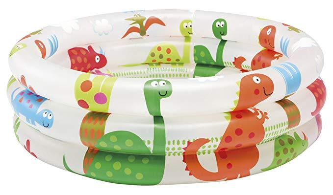 INTEX bể bơi trẻ sơ sinh Bể bơi INTEX Khăn cuộn khủng long Bể bơi trẻ em 61 × 22cm 57106 [Tiếng Nhật