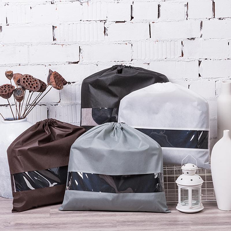 Túi vải không dệt Túi chống bụi túi hút xếp túi quần áo túi dây chùm túi lấy túi trong túi chống ẩm
